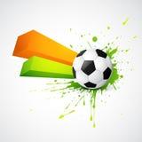 Conception abstraite du football de type illustration libre de droits