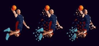 Conception abstraite réglée de joueur de basket illustration libre de droits