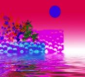 Conception abstraite rouge et rose Photo libre de droits