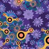 Conception abstraite sur le fond floral Photographie stock