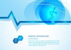 Conception abstraite VE de calibre de concept de fond médical de molécules Images stock