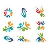 Conception active de logo de la vie, illustration de vecteur Photo stock