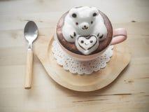 Conception adorable de l'art 3d de latte Image libre de droits
