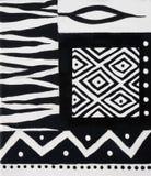 Conception africaine noire et blanche Photographie stock libre de droits