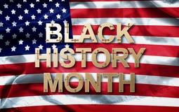 Conception afro-am?ricaine de fond de mois d'histoire de mois noir d'histoire pour la c?l?bration et reconnaissance en f?vrier images libres de droits
