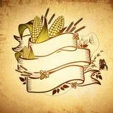 Conception agricole de vintage de ruban de nom de ferme Image stock