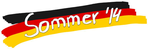 Conception 2014 allemande de bannière d'été Images libres de droits