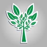 Conception amicale naturelle produit naturel de logo autocollants, labels, étiquettes avec le texte Naturel, nourriture d'eco Images stock