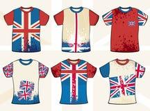 Conception anglaise grunge de T-shirt Images libres de droits