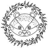 Conception animale de bande dessinée d'écureuil Images stock