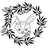 Conception animale de bande dessinée de lapin Images libres de droits