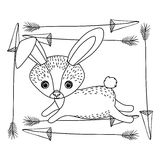 Conception animale de bande dessinée de lapin Photographie stock libre de droits