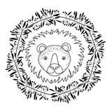 Conception animale de bande dessinée de lion Image libre de droits