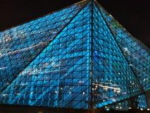 Conception architecturale de théâtre de Shenyang, en verre et en acier moderne, bâtiment image stock