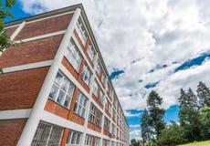 Conception architecturale des bâtiments administratifs dans Zlin, République Tchèque Photo stock