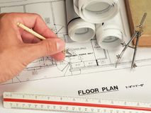 Conception architecturale et outils Photo libre de droits