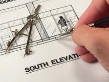 Conception architecturale et outils Images stock