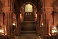 Conception architecturale renversante à l'intérieur de la Chambre d'état, Albany, New York, 2013 Image stock