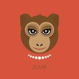 conception ardente d'abrégé sur singe de 2016 ans illustration de vecteur
