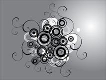 Conception argentée abstraite. illustration stock