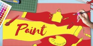 Conception Art Artwork Concept créatif de couleur Illustration Stock
