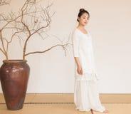 Conception artistique de Zen Meditation-The de thé de zen Photo libre de droits