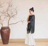 Conception artistique de Zen Meditation-The de thé de zen Images libres de droits