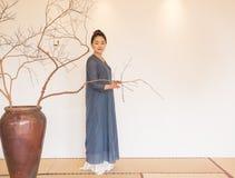 Conception artistique de Zen Meditation-The de thé de zen Image stock