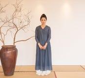 Conception artistique de Zen Meditation-The de thé de zen Image libre de droits
