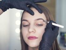 Conception artistique des sourcils rectification Forceps de Pin Composez l'artiste faisant le professionnel pour composer de la j photographie stock