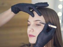 Conception artistique des sourcils rectification Forceps de Pin Composez l'artiste faisant le professionnel pour composer de la j image stock