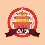 Conception asiatique d'icône illustration libre de droits