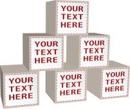 Conception avec des cubes Photographie stock libre de droits