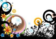 Conception avec des fleurs Images libres de droits