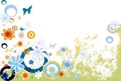 Conception avec des fleurs illustration libre de droits