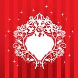 Conception avec le coeur et les roses Image libre de droits