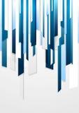 Conception barrée par bleu d'entreprise lumineux Photo stock