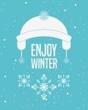 Conception bienvenue d'hiver Photos libres de droits