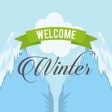 Conception bienvenue d'hiver Images libres de droits