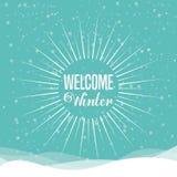 Conception bienvenue d'hiver Photo libre de droits
