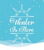 Conception bienvenue d'hiver Image libre de droits
