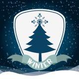 Conception bienvenue d'hiver Images stock