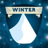 Conception bienvenue d'hiver Photographie stock libre de droits