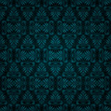 Conception bleu-foncé sans joint de papier peint de cru de tuile Photos stock