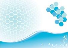 Conception bleue abstraite Image libre de droits