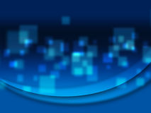 Conception bleue abstraite de texture Image libre de droits