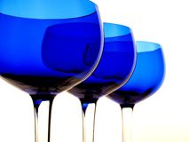 Conception bleue abstraite en verre Photographie stock libre de droits