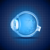 Conception bleue d'abrégé sur oeil humain Photographie stock libre de droits
