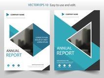 Conception bleue de calibre d'insecte de tract de rapport annuel de brochure de triangle, conception de disposition de couverture illustration de vecteur