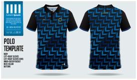Conception bleue de calibre de sport de polo de flèche pour le débardeur de football, le kit du football ou le sportwear Uniforme illustration de vecteur